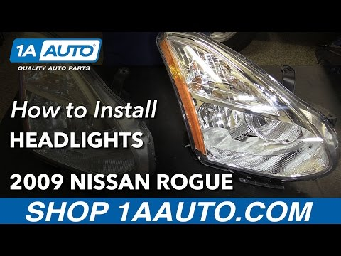 How to Install Replace Headlights 2009-10 Nissan Rogue Buy Quality Auto Parts at 1AAuto.com