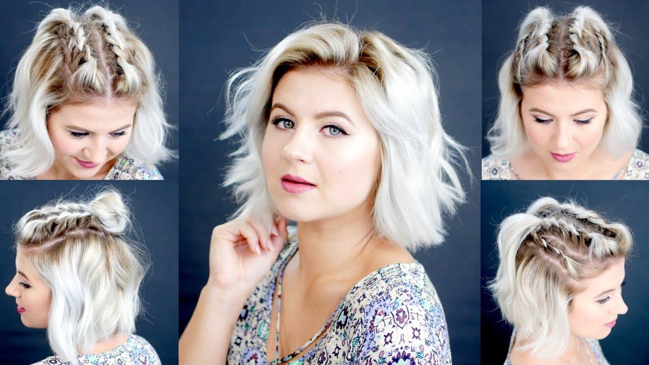 4 EASY Short Hairstyles Tutorial