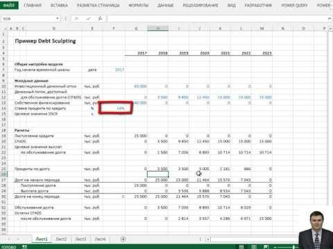 Подбор графика погашения долга в соответствии с денежным потоком (Debt Sculpting)