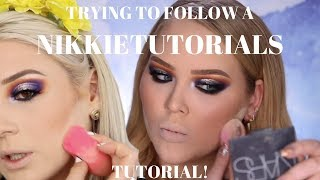 I TRIED FOLLOWING A NIKKIETUTORIALS TUTORIAL (GREEK) || GIO DREVELI ||
