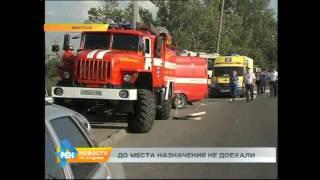ДТП в Иркутске 1 сентября. Автобус врезался в рекламный щит