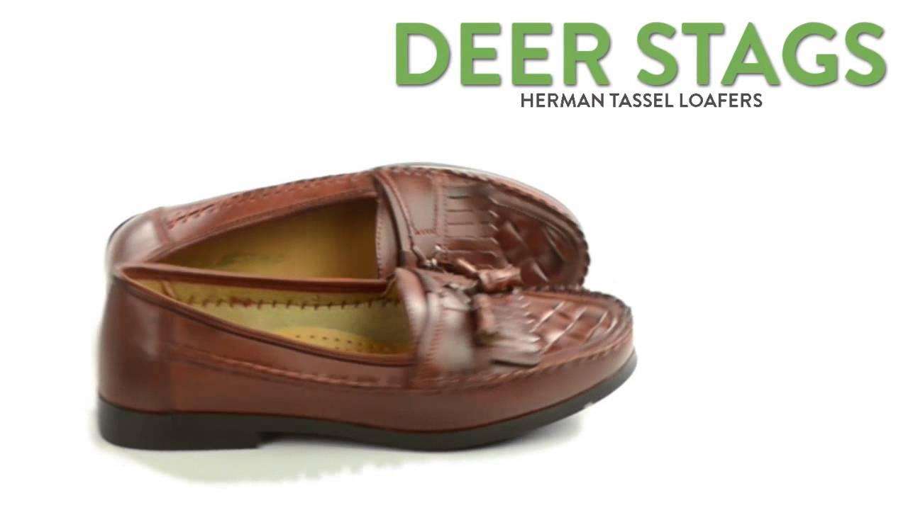 397f1bd384a Deer Stags Herman Tassel Loafers - Moc Toe (For Men) - YouTube
