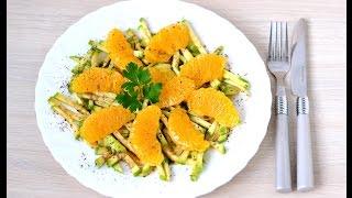 Салат из апельсина и цукини #рецепты,#салат,#салаты