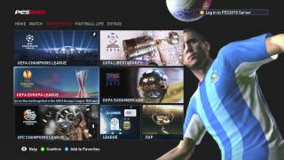 Pro Evolution Soccer 2015 (Xbox 360) Game Menus and Modes First Impressions 1080p HD