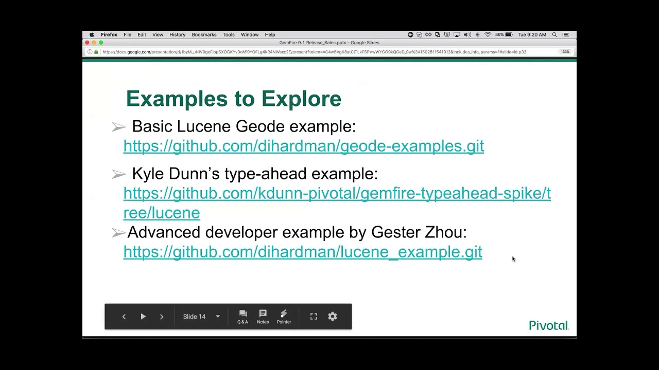 Gemfire Lucene Text Search Presentation and Demo