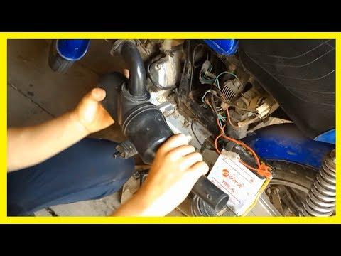 Как заменить воздушный фильтр на мопеде альфа видео