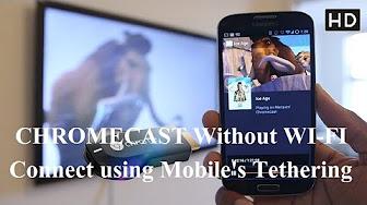 Hooking up Chromecast without WiFi - YouTube