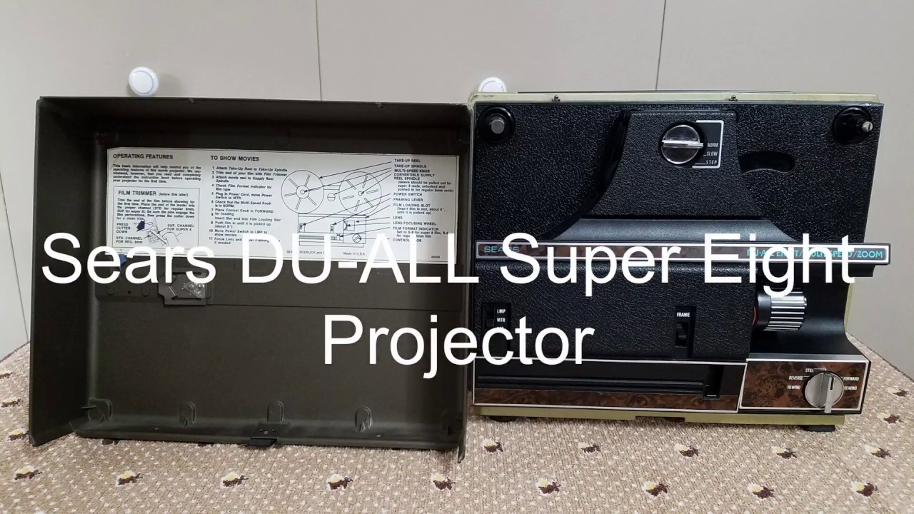Sears DU-ALL Super Eight Projector