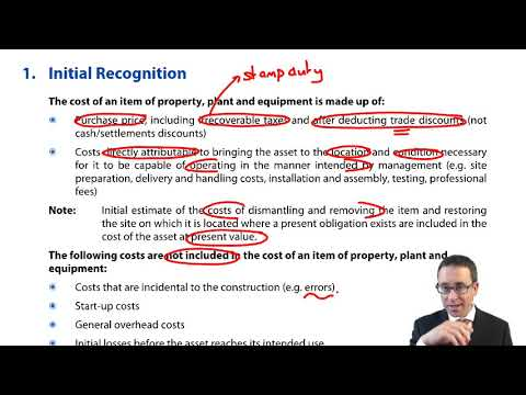 IAS 16 Property. plant and equipment – Initial Recognition - CIMA F1 Financial Reporting | OpenTuition | ACCA | CIMA
