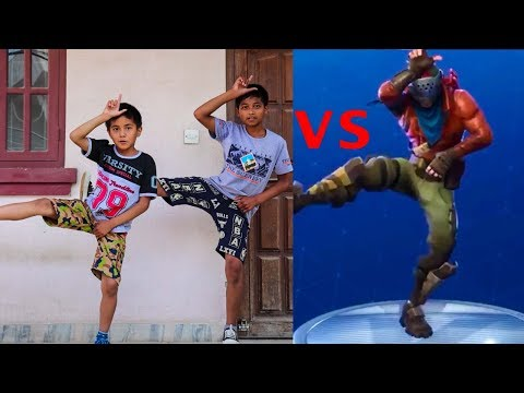 Fortnite Dance Challenge with my Brother! | In Real Life | ASquare Crew (Abhay & Aayush )