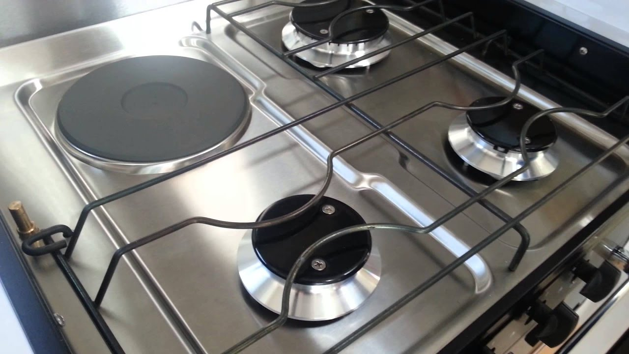 Setting Up Combined Electric And Gas Cooker