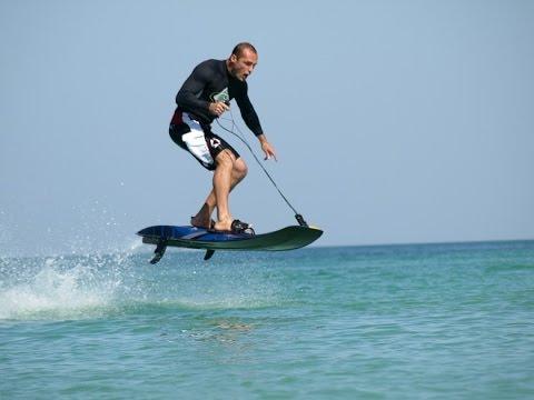 מגה וברק גלשן ים עם מנוע Jet surf powerboard - הפתעה מדהימה בחוף הים של PQ-59