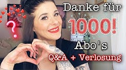 1000 Abonennten Special💥| Verlosung | Q&A 💥