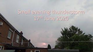 Minor Evening Thunderstorm - Manchester, UK - 17 June 2020