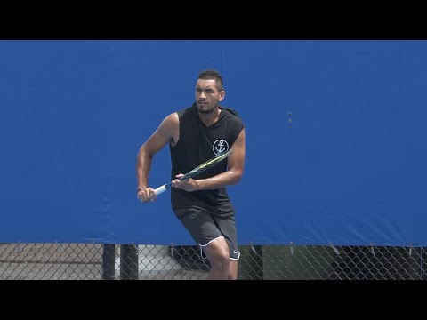 Kyrgios Practice Session | Brisbane International 2018