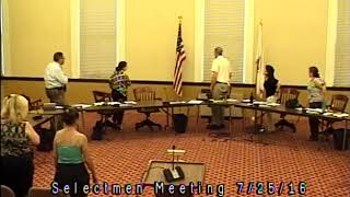 Acton, MA  Board of Selectmen Meeting 7/25/16