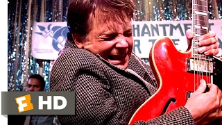 💜💜💜REST in PEACE CHUCK BERRY TRIBUTE Johnny B Goode Best Back to Future Movie CLIP from 1985 !