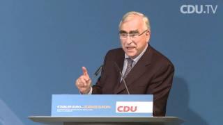 """Rede von Theo Waigel auf dem CDU-Kongress """"Stabiler Euro - starkes Europa"""""""