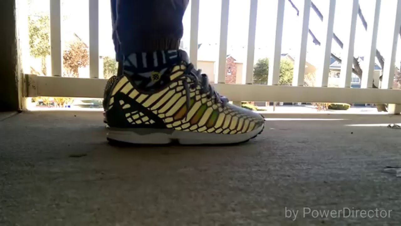 1065a65db ... good adidas zx flux xeno gray on feet with and no flash 1ae87 c6021