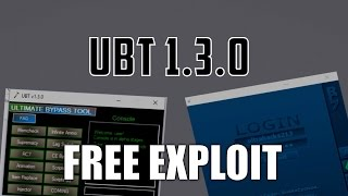 ROBLOX Exploit: UBT 1.3.0 *FREE* [PATCHED] CHECK NEW VIDEO