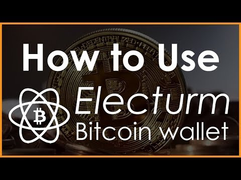 Bitcoin Wallet Electrum - How To Store Your Bitcoin