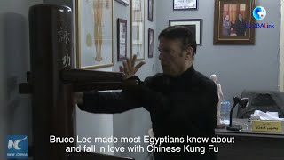 GLOBALink | Practicing Tai Chi by River Nile: Bruce Lee enthusiast promotes Kung Fu in Egypt