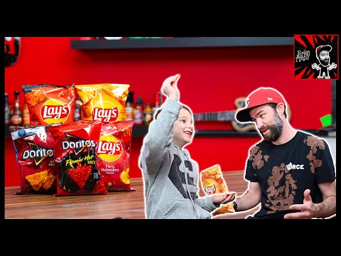 8 Year Old VS. Gas Station Spicy Chips!