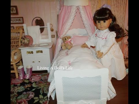 DIY American Girl Doll Samantha's Be Forever Canopy Bed