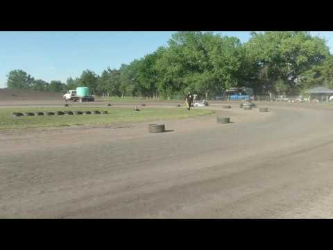 Go kart race at Lincoln County Raceway Jr