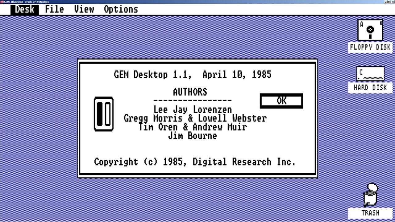 Digital Research GEM Desktop 1 1