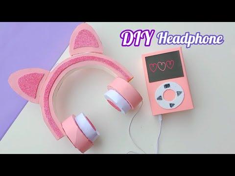 how to make paper cute headphone 🎧 / homemade paper headphone  / Diy headphone