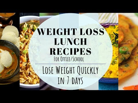 Weight Loss Lunch Recipes | Indian Lunch Box Ideas | Lose Weight Quickly In 7 Days | Veg Lunch Box