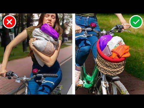 13 лайфхаков для велосипеда