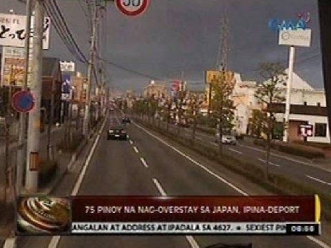 24 Oras: 75 Pinoy na nag-overstay sa Japan, ipina-deport