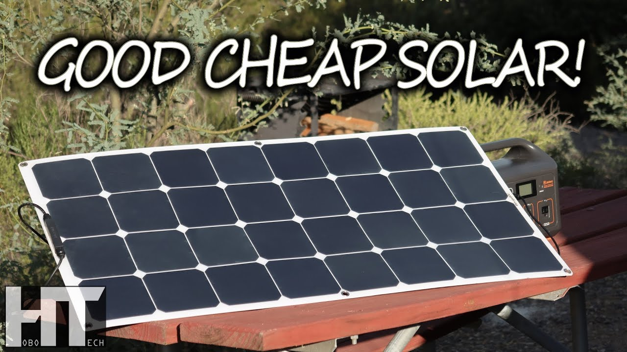 A Quality Flexible Solar Panel On A Budget 100 Watt Bouge Rv Portable Panel Review Youtube