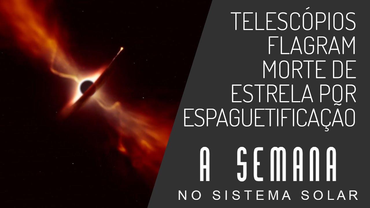 Telescópios flagram morte de estrela por espaguetificação