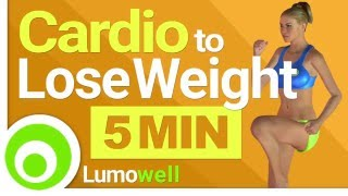 5 Minute Cardio Workout to Lose Weight & Burn Belly Fat