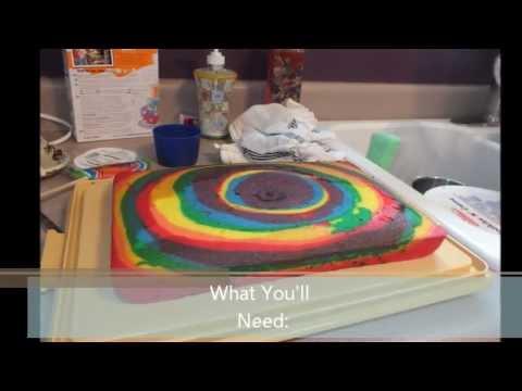 Tie Dye Cake Youtube