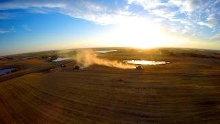 Harvest 2014  Aerial Video Saskatchewan Canada