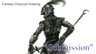 """Timelapse Charcoal Drawing: """"Submission"""""""