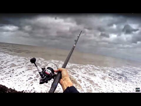 Storm Beach Fishing: Alone On The Coast
