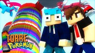 Minecraft TORRE PIXELMON - MEGA RAYQUAZA vs MEGA RESHIRAM ! A INVASÃO DE LENDÁRIOS !!