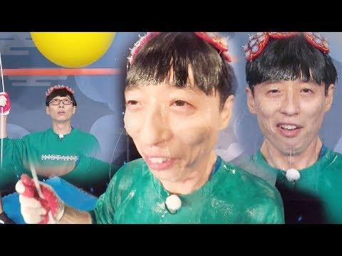 물풍선 게임에 큰소리 치던 유재석의 최후 '눈물샘 홍수' 《Running Man》런닝맨 EP419