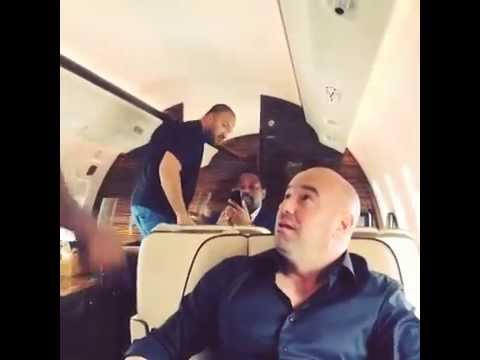 Mike Tyson interacts with Dana White