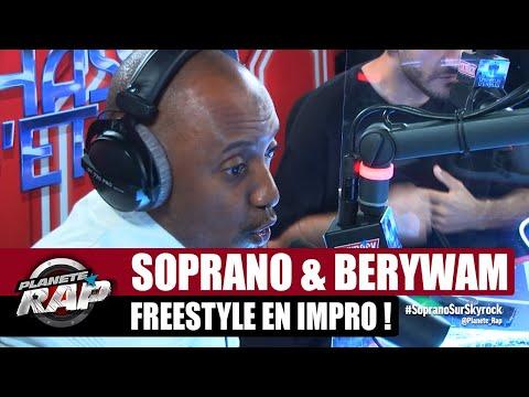 Youtube: SOPRANO balance un GROS freestyle en IMPRO! (feat. Berywam) #PlanèteRap