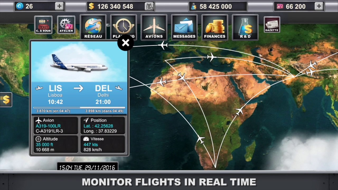 Airlines Manager business tycoon games for iOS