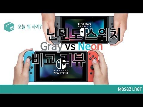 [오늘 뭐 사지?] 닌텐도 스위치 네온/그레이 색상 비교 (Nintendo Switch Neon Gray Comparison)