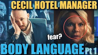 Body Language Analyst REACTS to the Cecil Hotel Manager's MORBID Nonverbal Communication Pt. 1 | 43