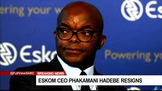 Gambar cover [BREAKING NEWS] Eskom CEO Phakamani Hadebe resigns