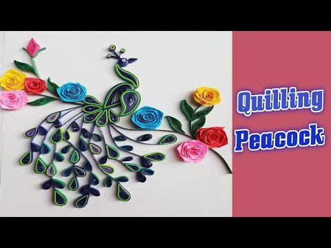 Paper || How to Make Paper Quilling Peacock || Quill Peacock Tutorial || Siri Art&Craft ||